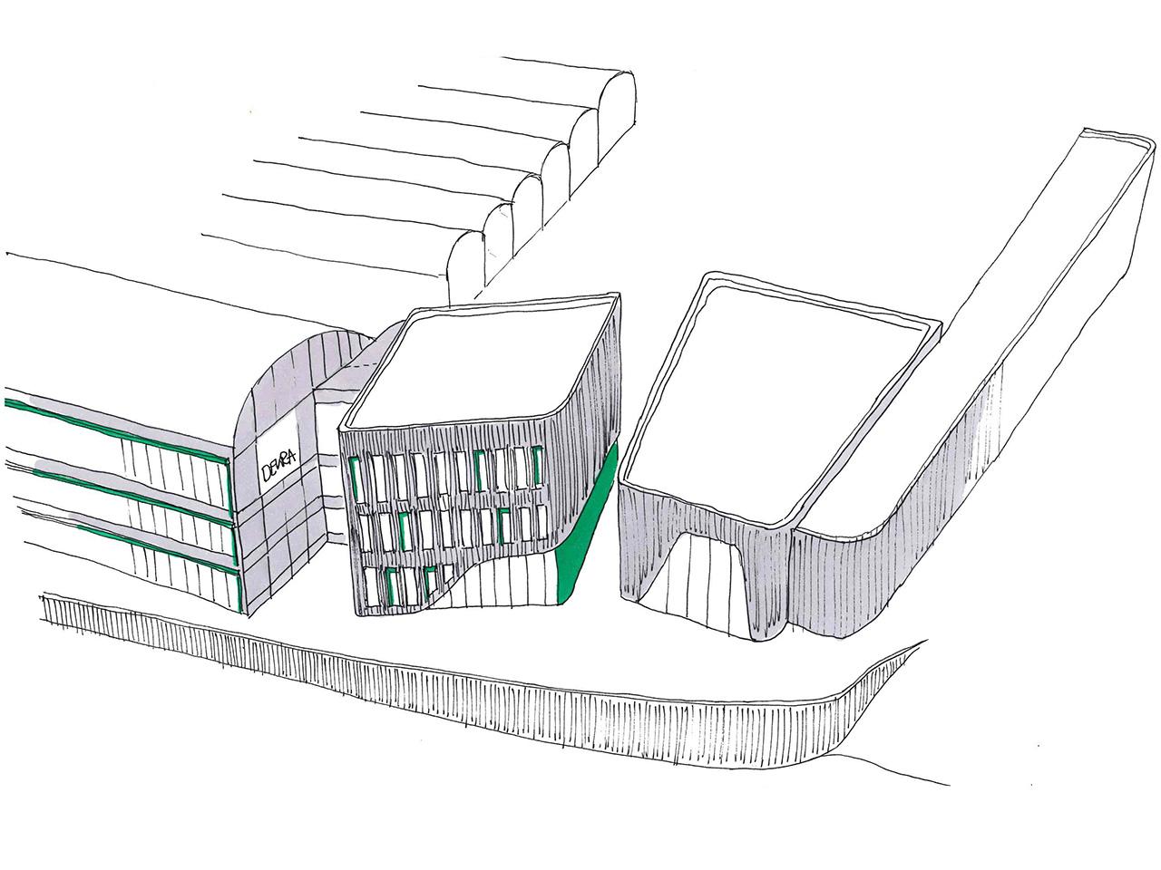 Entwurf zur Erweiterung der DEKRA NL in Chemnitz